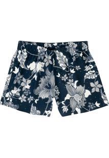 Shorts Feminino Hering Em Tecido De Viscose Estampado