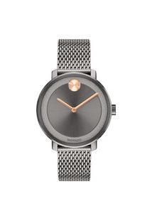 Relógio Movado Feminino Aço Cinza - 3600581