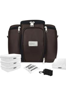 Bolsa Térmica Fitness Premium Couro - Unissex-Marrom