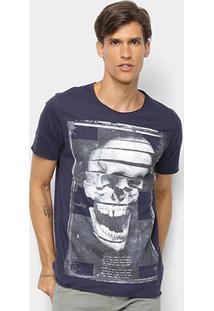 Camiseta Derek Ho Caveira Masculina - Masculino-Marinho