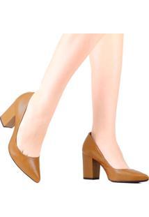Sapato Scarpin Schutz Salto Grosso Marrom