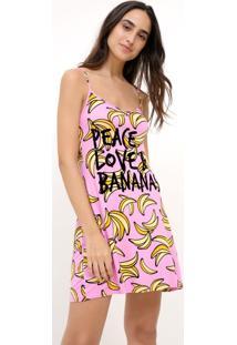 Camisola De Alcinha Estampa Bananas