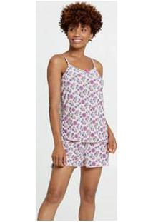 Pijama Feminino Liganete Estampa Floral Marisa