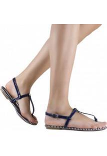 Sandália Zariff Shoes Rasteira Listrada