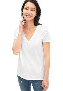 Camiseta Gap Bã¡Sica Branca - Branco - Feminino - Algodã£O - Dafiti