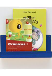 Organizador Quartinhos Porta Livros E Revisteiro De Parede Infantil Azul
