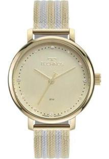 Relógio Technos Style 2035Msw/1X Feminino - Feminino-Prata+Dourado