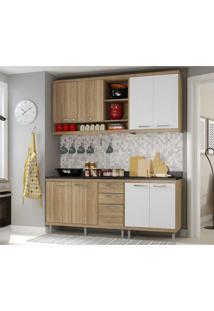 Cozinha Compacta Completa Multimã³Veis Com 4 Peã§As SicãLia 5819 Argila/Branco - Bege/Incolor - Dafiti
