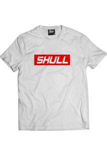 Camiseta Manga Curta Skull Clothing Red Branco