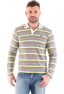 Camisa Polo Konciny Listrada Amarela