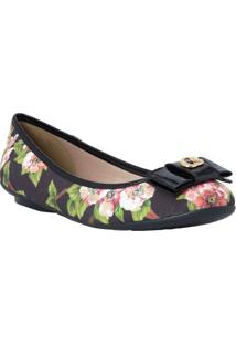 Sapatilha Floral Com Tag- Preta & Verdecarmen Steffens