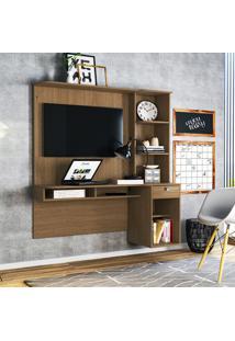 Mesa P/ Computador Colibri Agáve Com Painel Para Tv 42 Pol Natural Real
