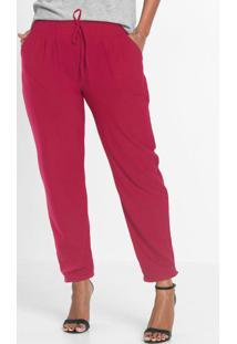 Calca Jogger Com Bolsos Rosa Pink