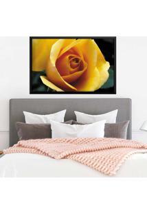 Quadro Love Decor Com Moldura Rosa Amarela Preto Grande - Multicolorido - Dafiti