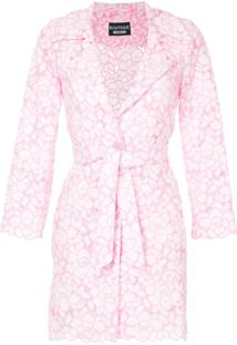 Boutique Moschino Jaqueta Com Padronagem Floral - Rosa