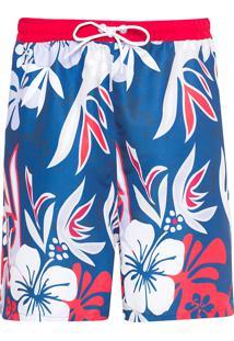 Short Masculino Maxi Flower - Azul