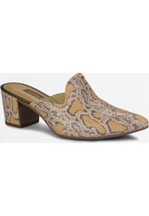 Scarpin Mule Feminino Estampa Animal Print Via Dakota