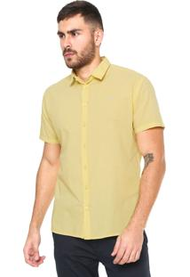 Camisa Colcci Slim Fit Básica Amarela