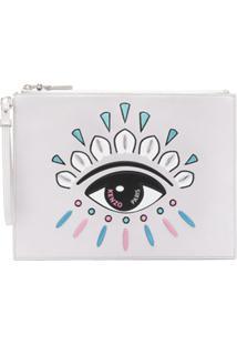 Kenzo Clutch A4 Kontact Eye - Prateado