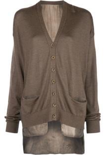 Uma Wang Buttoned Fine Knit Cardigan - Marrom