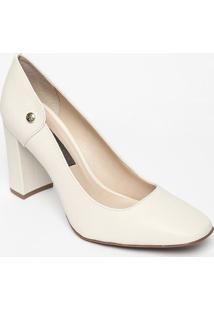 Sapato Tradicional Em Couro- Branco- Salto: 9Cmjorge Bischoff