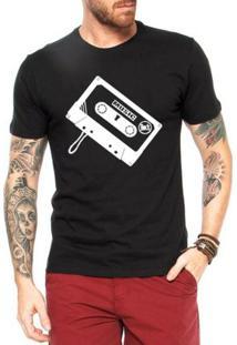Camiseta Criativa Urbana Toca Fita - Masculino-Preto