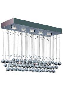 Plafon Llum Crystal Ball Gu10 Bivolt Transparente