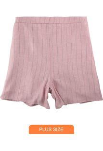 Shorts Vermelho Alfaiataria Com Lurex