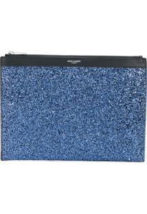 Saint Laurent Capa Para Tablet 'East/West Saint Laurent Paris' - Azul