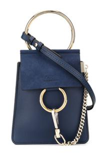 Chloé Bolsa Faye Mini - Azul