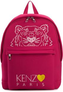 Kenzo Capsule Back From Holidays Embroidered Tiger Backpack - Rosa