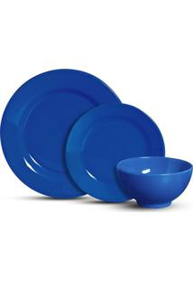 Aparelho De Jantar Scalla Standard Azul Com 12 Peças
