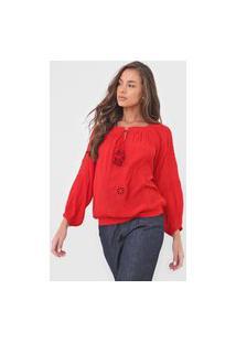 Blusa Desigual Venecia Vermelha