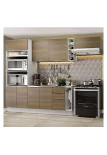 Cozinha Completa Madesa Stella 290002 Com Armário E Balcão Branco/Rustic Cor:Branco/Rustic