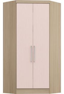 Modulo De Closet Com 2 Porta E 2 Gavetas Infinity 3806A-Castro Móveis - Nogueira / Rosa Blush
