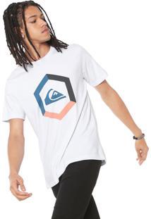 Camiseta Quiksilver Tricolor Branca