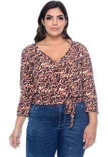 Blusa Marileti Plus Size Tresspass Animal Print
