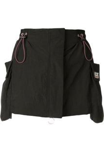 Ground Zero Drawstring Mini Skirt - Preto
