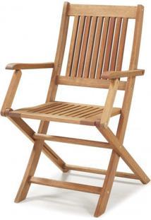 Cadeira Dobrável Em Madeira Maciça Com Braços Primavera Casa E Jardim Móveis Stain Jatobá