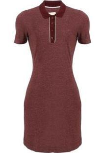 Vestido Polo Seeder Com Peitilho - Feminino-Vinho