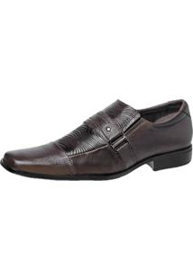 Sapato Pisa Forte Social Esporte Marrom