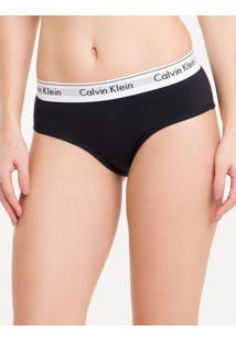Calcinha Short Modern Cotton - Preto - G