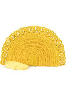 Nannacay Clutch Trançada - Amarelo
