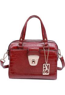 Bolsa Transversal Texturizada- Vermelho Escuro- 19X2Fellipe Krein