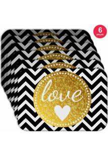 Jogo Americano Love Decor Wevans Love Kit Com 6 Pçs