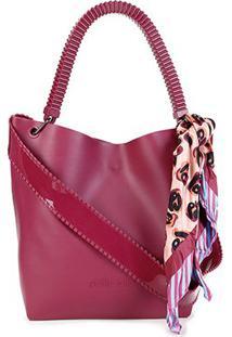 Bolsa Petite Jolie Shopper City Bag Feminina - Feminino-Vinho