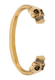 Alexander Mcqueen Bracelete De Caveira - Dourado