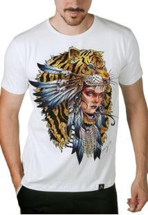 Camiseta Artseries India Tigre Colorida
