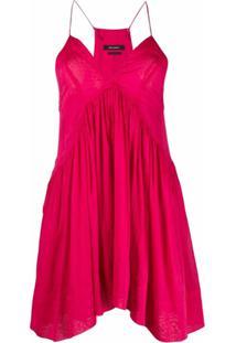 Isabel Marant Vestido Gola V Sem Mangas - Rosa