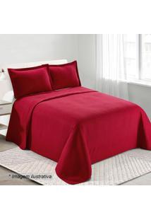 Conjunto De Colcha Loft Solteiro- Vermelho Escuro- 2Camesa